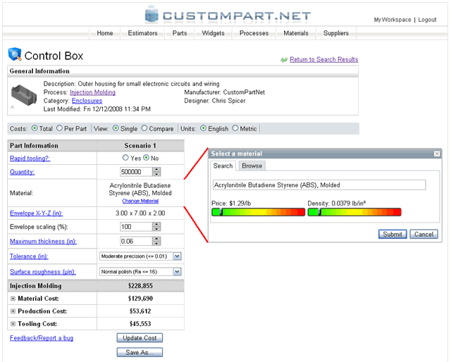 CustomPartNet - Case Study: Cost Analysis